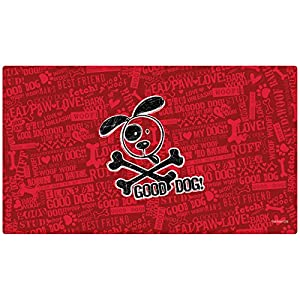 "Drymate Cross Bones Dog Bowl Place Mat, Red, Large/16"" x 28"" 67"