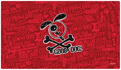 Placemat Drymate (Drymate Cross Bones Dog Bowl Place Mat, Red, Large/16