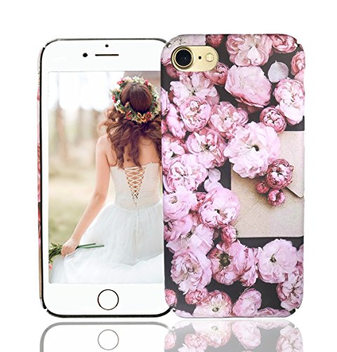 iPhone 8 Case, iPhone 7 Cases, Vivafree Girls [Premium Floral Series] Flower Design with TPU Bumper - Slim Fit Silky Soft Flexible Silicone Cover Cellphone Case - Cherry Blossom