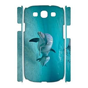 LZHCASE Cover Case Dolphin 3D Diy For Samsung Galaxy S3 I9300 [Pattern-1]