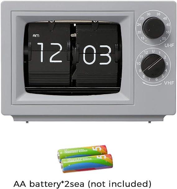 FDYD TV del Escritorio del tirón, Reloj del tirón, del tirón del Reloj del Escritorio, con Pilas para la decoración casera (3 Colores),Gris: Amazon.es: Hogar
