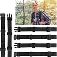 Backpack Chest Strap 3 Pack Rucksack Chest Strap Adjustable Chest Strap for Backpack, Chest Belt with Buckle f