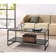 Zinus Modern Studio Collection Deluxe Rectangular Coffee Table, Espresso