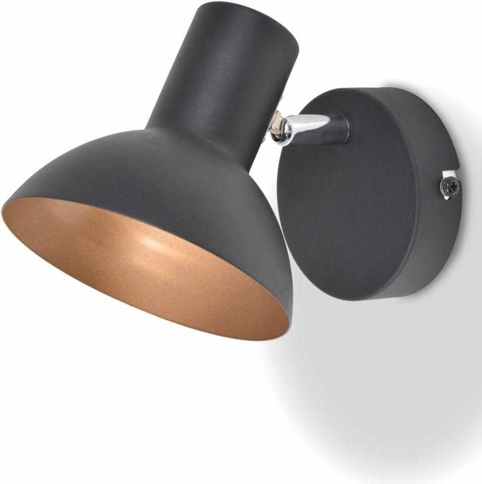 vidaXL 2x Wandleuchte Schwarz Golden Wandstrahler Wandlampe Wandspot Flurlampe