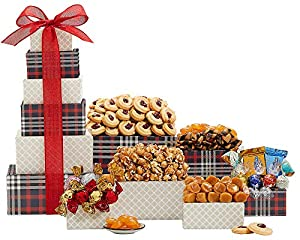Wine Country Gift Baskets Tower of Chocolate and Sweets. The Ideal Christmas Gift For Friends, Family, Co-Workers and Clients. Great For Birthdays, Sympathy, Movie Nights or as a Corporate Gift.