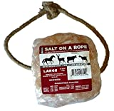 S.W.A.M.P. Corporation Large 7.3 lb. Himalayan Salt on a Rope Rock Lick for Animals, Horses, Deer