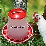 Automatic Plastic Chicken Fodder Feeder 1.5kg Food Drinker Set Hen Chook Poultry Farm Animals Feeding Raising Tools Accessories