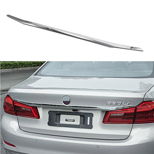 Chrome Trunk Lid Trim (Rqing For BMW New 5 SERIES Sedan (G30) 530i 530e 540i M550i 2017 2018 Chrome Rear Trunk Lid Tail Gate Cover Trim)