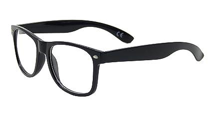 01fbfd356a2dc Lunettes à verres transparents pour look geek nerd Monture noire ...