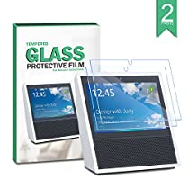 Echo Show Screen Protector(2-PACK), Keten Amazon Echo Show Tempered Glass Screen Protector [ANTI-SCRATCH] [BUBBLE-FREE][ULTRA-CLEAR] Film Screen Cover Easy to Install for Amazon Echo Show
