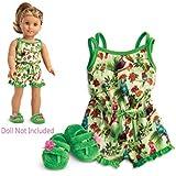 "American Girl Lea's Rainforest Dreams Pajamas for 18"" Dolls 2016"
