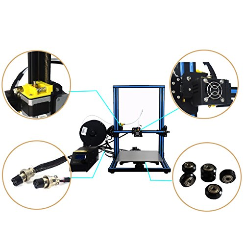 HICTOP Creality CR-10 3D Printer Prusa I3 DIY Kit Aluminum Large Print Size 300x300x400mm