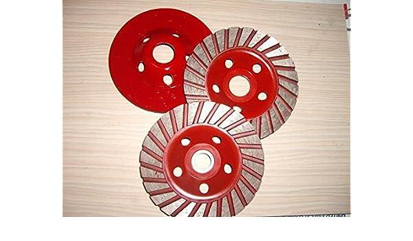 2 Piece 4 1//2 Inch Diamond Turbo Row Grinding Cup Wheel granite terrazzo stone