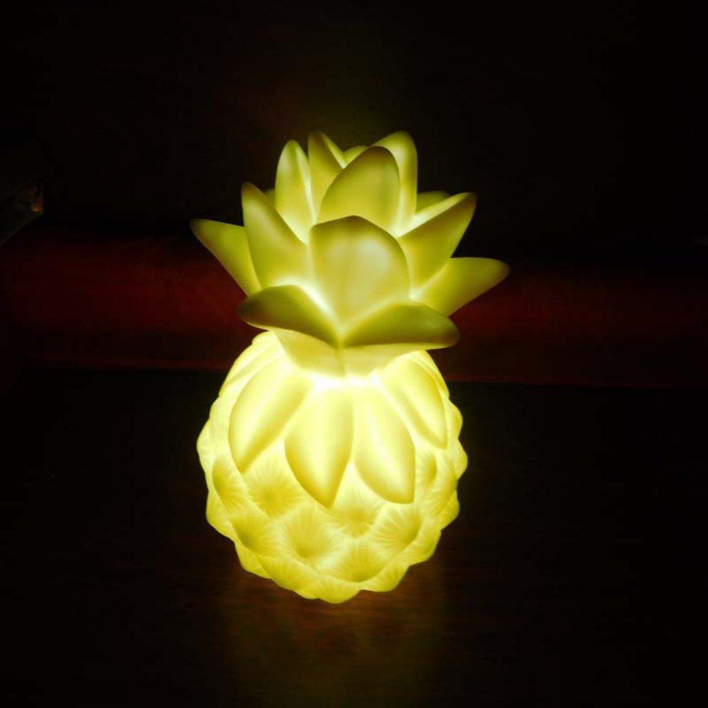smartcoco LovelyソリッドカラーポータブルLED Nightlights Pear /パイナップルランプ暖かいと快適なライト子供赤ちゃんの部屋デコレーションおもちゃ イエロー STF-BY0408-6 B074NYCMRW 10768 イエロー イエロー
