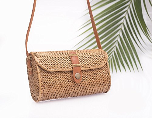 Rectangle Straw Bag - Straw Purse - Ata Bag - Rattan Purse - Wicker Purse by Tropical Boho