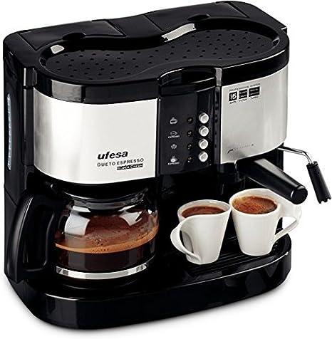 Ufesa CK7360 Dueto Espresso, Negro, 1800 W, 220-240 V, 220