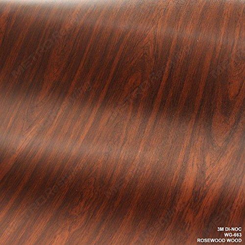 3M DI-NOC WG-663 ROSEWOOD WOODGRAIN 3in x 5in (SAMPLE SIZE) Vinyl Film Series