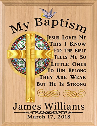 Baptism Gift Blessing PERSONALIZED Christening Gifts - For Boys Baby Girls Babies MADE in USA