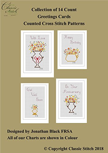 Pattern 14k (Collection of 14 Count Greetings Cards Cross Stitch Patterns)