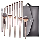 BESTOPE Makeup Brushes Set 14 PCs Cosmetic Brushes with Tote Bag Premium Synthetic