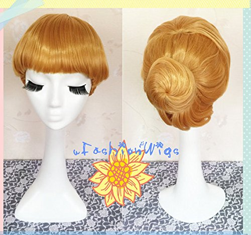 Pricess Cinderella Cosplay Wig, Golden Cinderella Costume Wigs for Party -