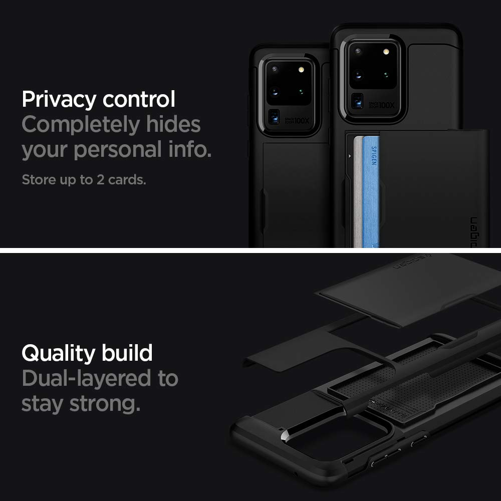 Spigen Slim Armor CS Designed for Samsung Galaxy S20 Ultra Case Black 2020