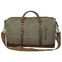 Thank you for choosing S-ZONE leather canvas duffel bag. Our target is to provide good shopping experience. Please check the package after receiving the bag to make sure if the condition is good and has all the accessories. Any problem, pleas...