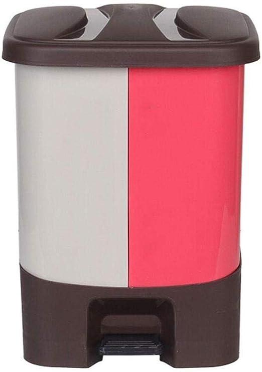 RMGAI Cubo de Basura Cubo de Basura de plástico Papelera Pedal con Dos Compartimentos en línea