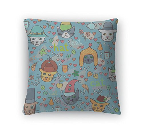w Accent Decor, Cats In Hats Pattern, 20