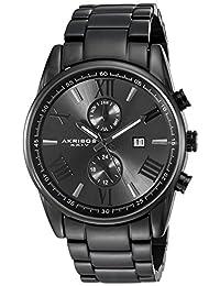 Akribos XXIV Men's AK812BK Analog Display Swiss Quartz Black Watch