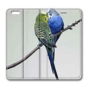 iPhone 6 Plus,Brain114 iPhone 6 Plus [5.5] case,iPhone 6 Plus leahter,leather case for iPhone 6 Plus,Fashion Book Style Design Wallet leather Case Cover for iPhone 6 Plus 5.5 inch Kissing Budgies by Maris's Diary