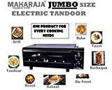 Maharaja 2000W Electric Tandoor with Automatic Timer; Heat Controller and Big Size Tray with Accessories like Wire Rack; Sticks; Recipe Book; Cool Touch Handle (Black)