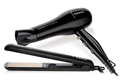 Taurus Beauty Essential - Set de secador + plancha de pelo