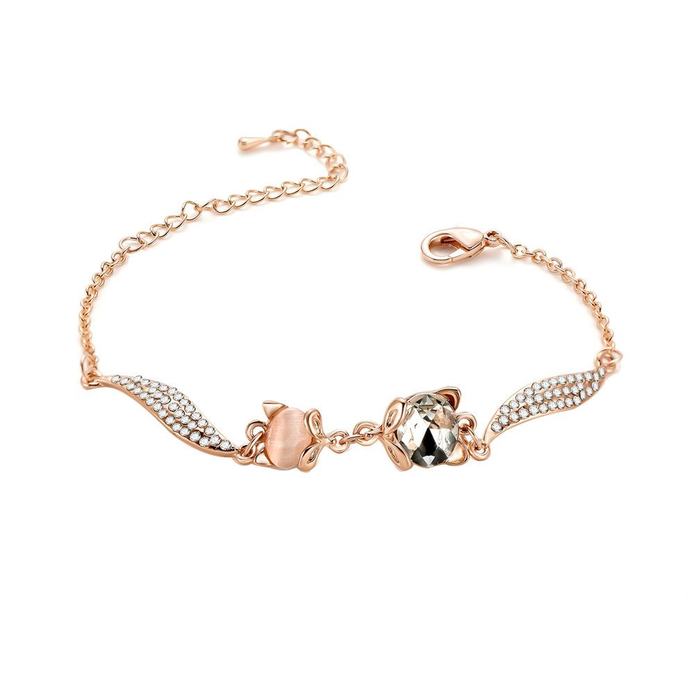Women Fashion Plated Rhinestone Simple Style Protection Versatile Jewelry Bracelet Gift for Girls Mens Teens(C)