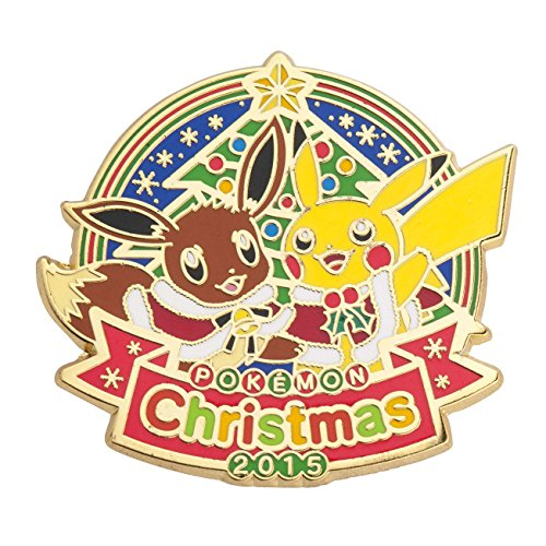 Pokemon Center Original Logo Pins Christmas - Banpresto Japan Pokemon