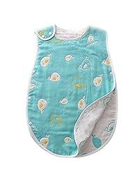 DiDida Softest Muslin Cotton Baby Sleeping Sack -Infant Slumber Safe Wearable Blanket