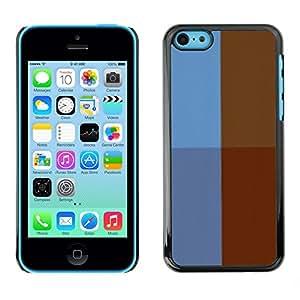 Cubierta de la caja de protección la piel dura para el Apple iPhone 5C - Brick Street
