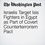 Israelis Target Isis Fighters in Egypt as Part of Covert Counterterrorism Pact   Greg Jaffe