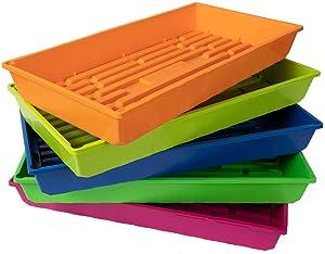 SUNPACK, 1020 Color MEGA Trays, UV Resistant, Food Grade & BPA Free, 5 Pack No Drain Holes (Multi Color)