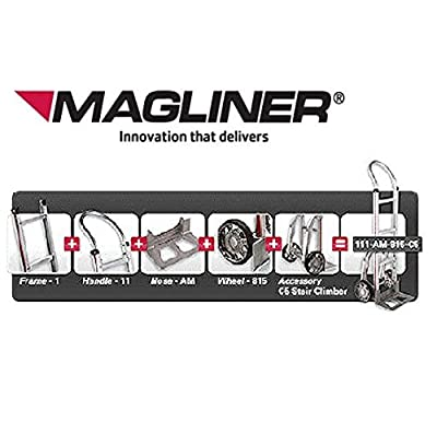 Magliner Aluminum Hand Truck Stair Climber Set - Pair with Nylon Glides C5
