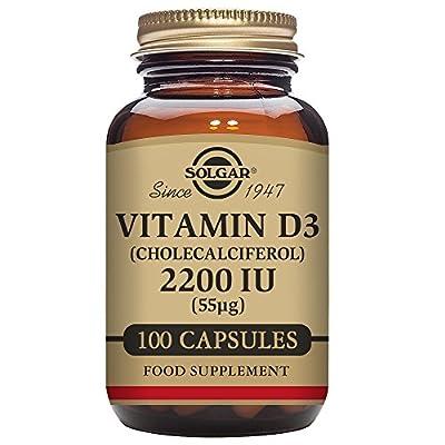Solgar - Vitamin D3 (Cholecalciferol) 2,200 IU, 100 Vegetable Capsules
