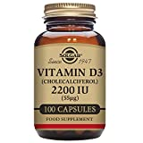 Solgar – Vitamin D3 (Cholecalciferol) 2,200 IU, 100 Vegetable Capsules Review
