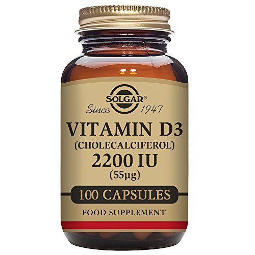 Solgar - Vitamin D3 (Cholecalciferol) 2,200 IU, 100 Vegetable Capsules