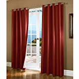 Gorgeous Home (#34) 2 PANELS SOLID DARK BURGUNDY 108
