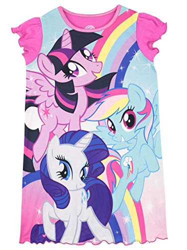 My Little Pony Girls' Rainbow Dash Twilight Sparkle Pajamas Size 6 (Multi Colored Pony)