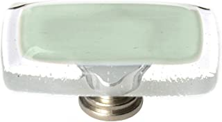 product image for Sietto LK-712-SN Reflective 2 Inch Long Rectangular Cabinet Knob