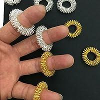 Jasene 5Pcs/Set Mini Finger Massager Acupressure Rings Massage Ring