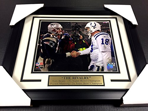 PEYTON MANNING TOM BRADY THE RIVALRY UNSIGNED 8X10 Photo Framed COLTS PATRIOTS
