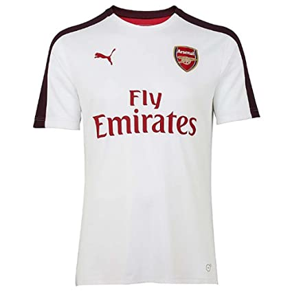 a84f212d156a Amazon.com   PUMA 2018-2019 Arsenal Stadium Jersey (White)   Sports ...