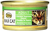 Nutro MAX CAT Adult Chicken Supreme Entrée Chunks in Sauce Canned Cat Food,3oz-(Pack of 24)